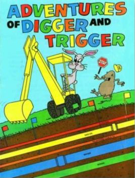 Digger and Trigger Coloring Books - Bulk Discount - Planet Underground