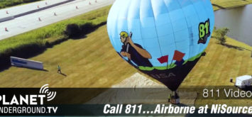 811 Balloon at NiSource Call Before You Dig