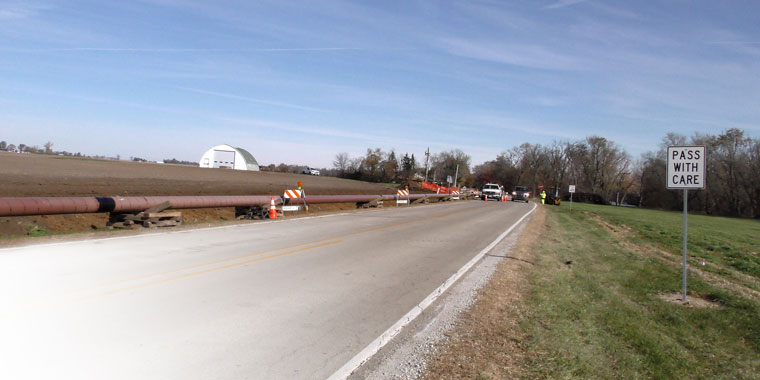Nicor Gas, working alongside NPL Construction crews, replace aging gas pipes in Kankakee, IL.