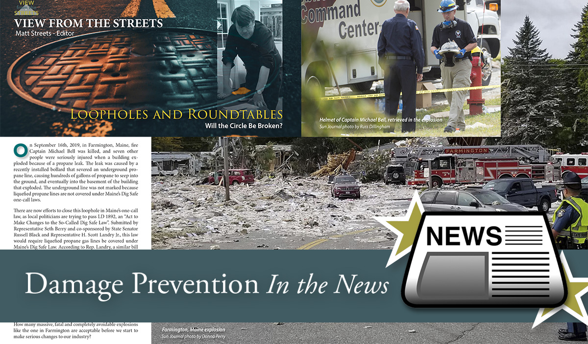 Damage Prevention in the news header