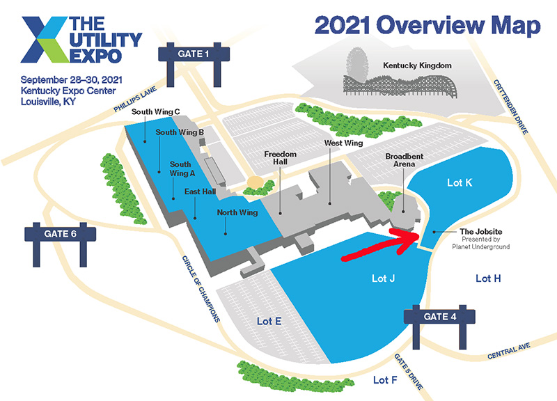 The-Utility-Expo-Show-Floor-Map with The Jobsite