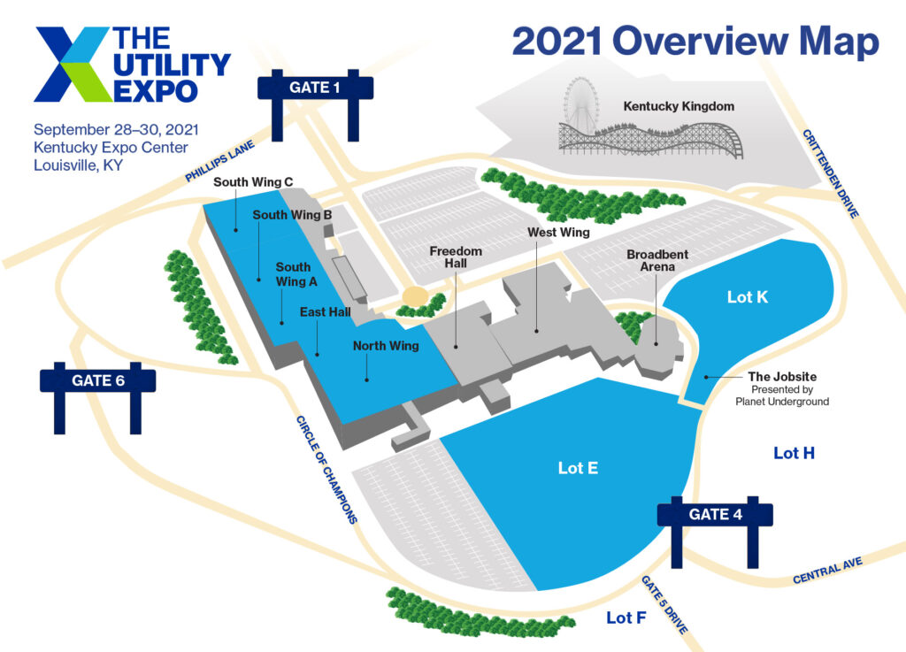 The Utility Expo 2021 overview map revised